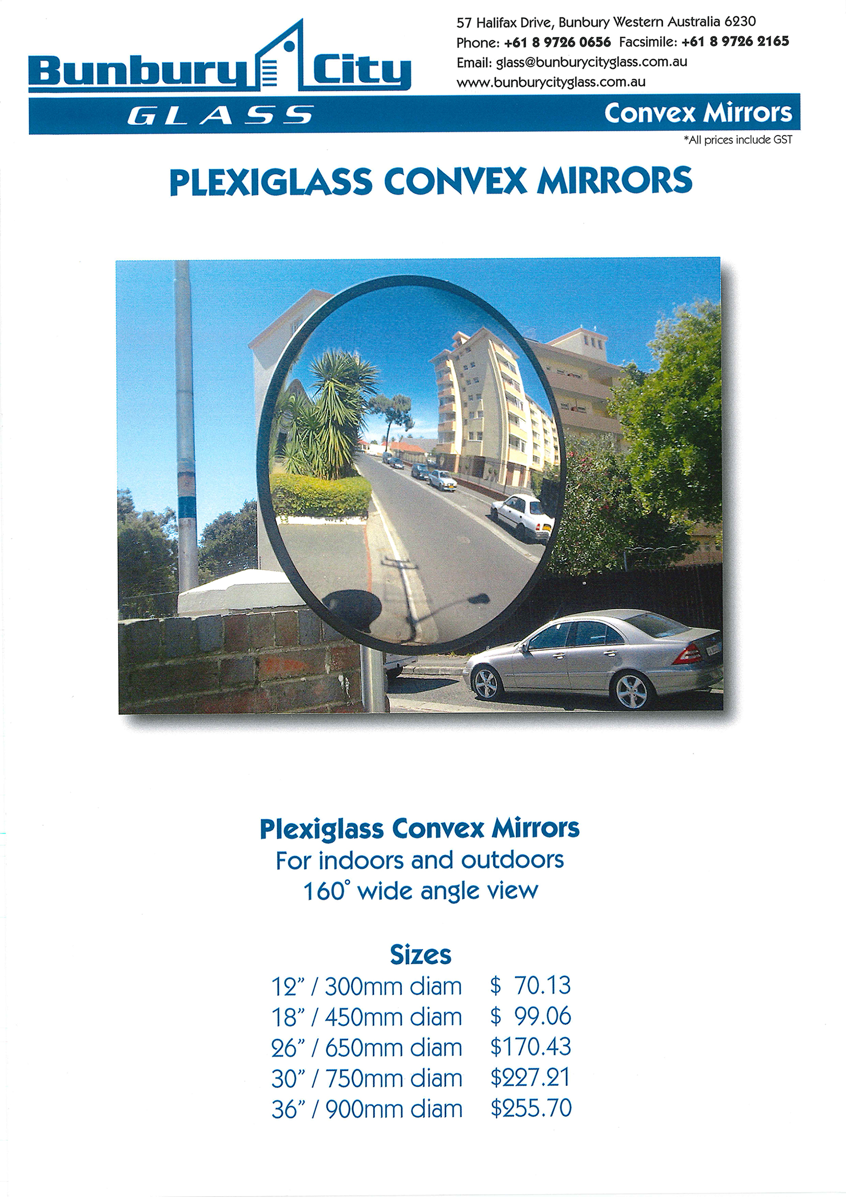 Bunbury City Glass | Convex Mirrors