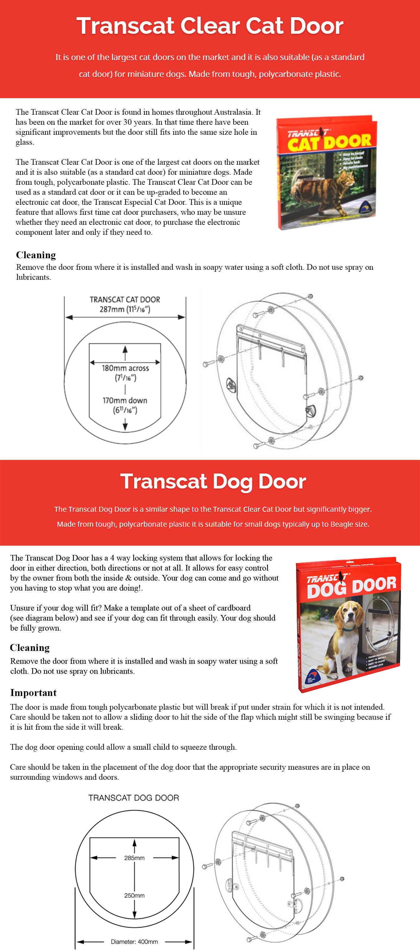 Bunbury City Glass | Dog / Cat Doors