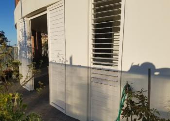 Bi-parting Sliding Door with Ali Louvres 2