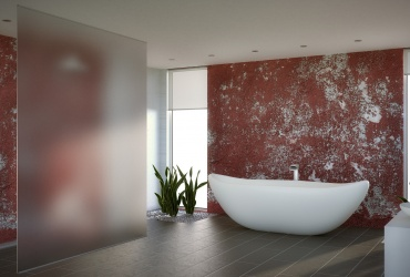 Acid Etched Frameless Panel