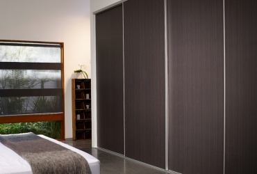 Sliding Robe Doors with Wood Inserts | Bunbury City Glass